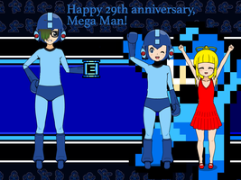 Happy 29th Anniversary Mega Man! :-D by SplatCrosser