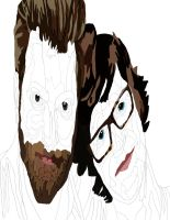 Rhett and Link color and pen  1 by daylover1313