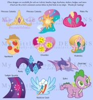 My Little Pony design for sale by Pooky-di-Bear