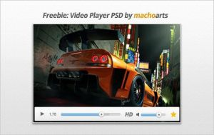 Video Player PSD by suraj78