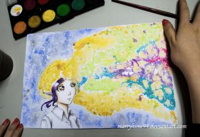 Iris sugar watercolors experiment sketch by Marryhime94