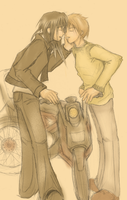 Sepia: Sirius and Remus by jagaimo