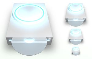 CD Drive White PNG by madFusion15