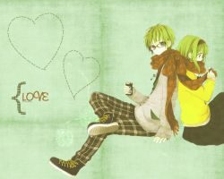 Love -Gumi and Gumo- 1280 x 1024 by katiemirmo