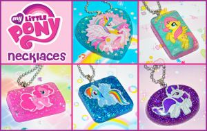 My Little Pony Necklaces by bapity88