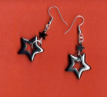 Blackstar earrings by Jessewellery