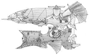Victorian Airship by Clayman8