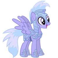 Cloud Chaser Vector - Crystal Pony Armor by Anxet