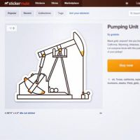 Pumping Unit Sticker Now on Stickermule! by graticle