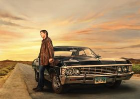 Dean and Impala by slugette