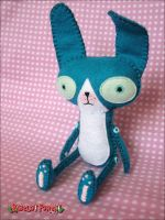 Teal Bunny by BibelotForest