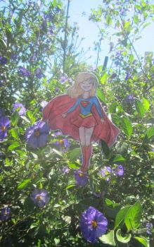 tiny supergirl by minihumanoid