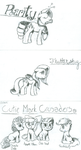 Ponies on Index Cards 2 by Phenony