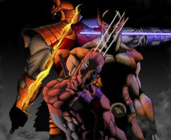 Wolverine, Deadpool and SS by Anothen