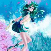 Sailor Neptune_manga style by Pillara