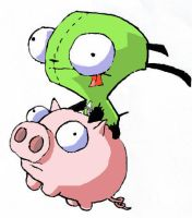 gir piggy what what by CheshireGrins