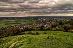 Glastonbury from above by CharmingPhotography