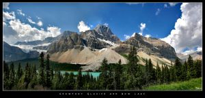 Crowfoot Glacier and Bow Lake by rgmcleish