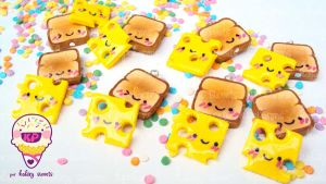 cheese and toast by KPcharms