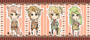 Kemonomimi Adoptables Set - CLOSED by Chi-Adopts-Yo