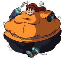 Commission - Fat Mii Gunner by FizTheAncient