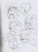 Sonic the Hedgehog sketches by adamis