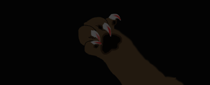 Tigerclaw's long front claws by tigerclaw64