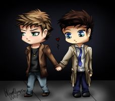 Destiel Chibis by ReynStorm12