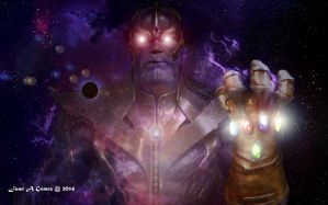 Thanos. Infinty Gems by totoletoto