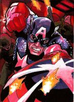 Captain America Sketch Card 2 by Sigint