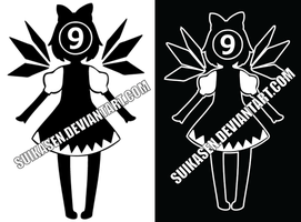 Cirno Decal Logo Design by Suikasen