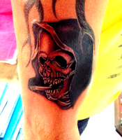 freehand skull by devilwithin91