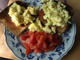 Scrambled Eggs and Toast by FullMoon2012