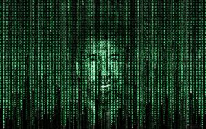 Chuck Norris in matrix code by tomhotovy