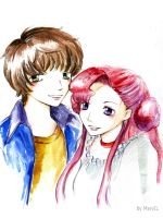 CG Euphemia and Suzaku by MaryIL