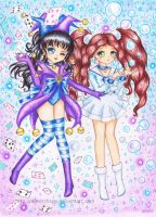 C: Sailor Bromista and Sailor Awa by SilverChaim
