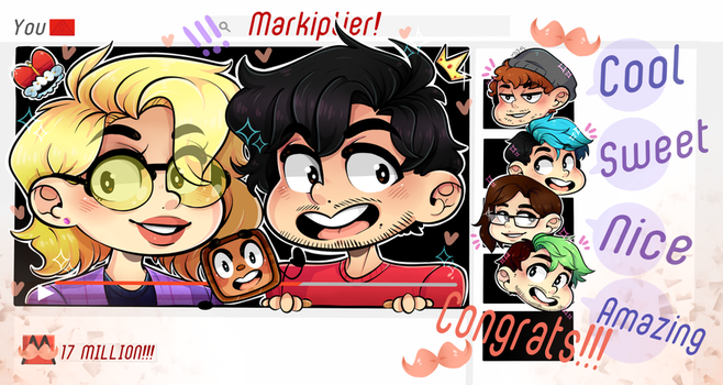 Markiplier and Teamiplier Reach 17 Million!!! by DarkMagic-Sweetheart