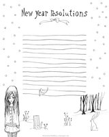 Winter Friends - New Yrs Resolution Printable by beyourpet