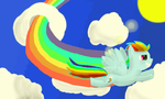 Rainbow Dash in Flight by Zztfox