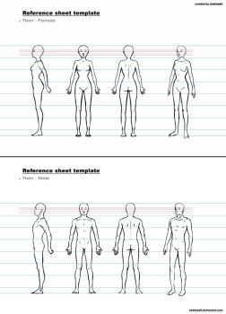 ref sheet template b by chakhabit