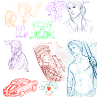 Supernatural RP sketch dump by Supernatural-Fox