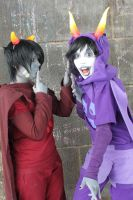 God Tier Gamzee and Karkat. Animagic 2012 by BakaCircle