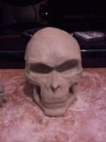 Start of the Skull Mask by Ozect