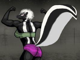 Muscle Skunk Female by animagusurreal