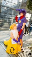 Renamon and Impmon [Gijinka] (Digimon) by CFonly