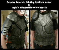 Cosplay Tutorial: Painting Armor by BlueWolfCheetah
