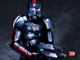 Mass Effect 3 Shepard Rain Edition Vol 1 Second by RedLineR91