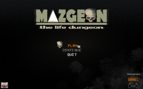Game's title menu - Mazgeon by dokitsu