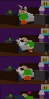 Kyle tucking Cartman in bed. by IKyman