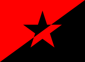 Anarchy Flag with Star by pipcallas